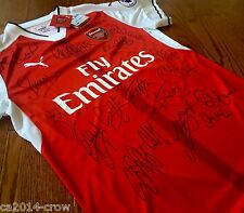 Hand Signed Jersey 2016 Arsenal Football Club Signed Shirt 18 Autographs + COA