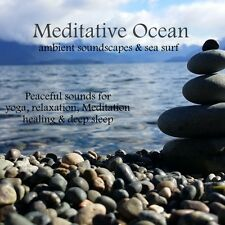 MEDITATIVE OCEAN WAVES CD AMBIENT SOUNDS & SEA SURF RELAXATION STRESS SLEEP