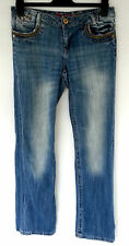 NEXT BOYFRIEND LOOSE FIT/CUT BLUE DENIM WASHED JEANS SIZE 8 L W32 R8 L34 TALL