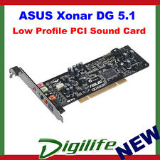 Asus Xonar DG PCI Gaming soundcard, 5.1 Channel, with Low Profile Bracket