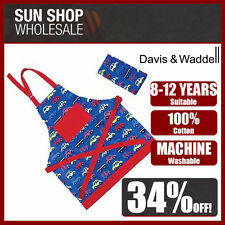 Davis & Waddell Kids Car Apron & Tea Towel Set for 8-12 years Machine Washable!