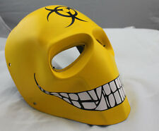 New Full Face Yellow PC Lens Eye Protection Mask For Paintball Airsoft War Game
