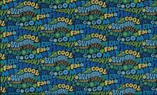 Retro 60's Sixties Groovy Word   Fabric by Makower 100% Cotton FQ