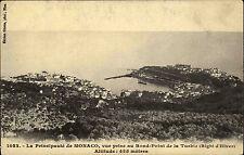 Monaco AK ~1910 Rond Point de la Turbie Panorama Righi d'Hiver Edition Giletta