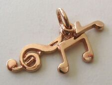 SOLID  9ct  ROSE  GOLD  MUSICAL NOTES  CHARM/PENDANT RRP $129