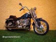 1:18 Harley Davidson Springer Softail Blau / 01029