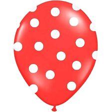 Luftballons Polka Dots rot 30 cm 10 Stück - Ballons Taufe Kindergeburtstag