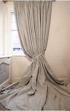 LUXURY ONE Pair Linen BLACKOUT Thermal Bespoke 3.05cm LONG 2.05cm Wide CURTAINS
