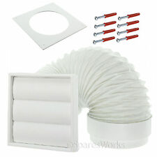 "Venting Kit For White Knight Tumble Dryer External Wall Vent 4"" 100mm White"