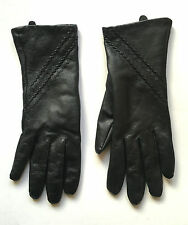 Black Real Leather Gloves NEW NWOT Soft Lined H&M