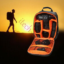 Camera Video Backpack Waterproof Photo Bag Case Cover For Canon Nikon SLR Orange