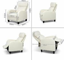 Recliner Chair Reclining Sofa Armchair Fabric Single Lounge Seat Theatre Quality