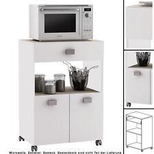 Küchenwagen 145 AKAZIE WEISS Küchentrolley Schublade Küchenschrank Küchenhelfer