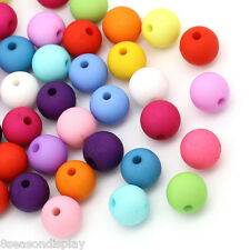 "100PCs Acrylic Spacer Beads Round Mixed 10mm Dia.( 3/8"")"