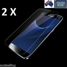 2 X Genuine Tempered Glass Film Screen Protector for Samsung Galaxy S7