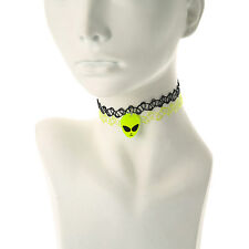 Claire's Girls and Womens 2 Pack Alien Tattoo Choker Necklaces
