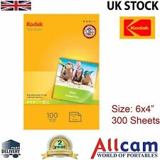 "3 Pack: Kodak Glossy Photo Paper 6x4"" 180gsm for All Inket Printers (300 sheets)"
