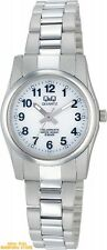 CITIZEN Q&Q H971-204 Solar Analog Stainless Steel White Ladies Watch F/S track