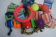 11 x ASSORTED PET DOG SQUEAKY CHEW ROPE BALL FUN GOOD BOY DOG PUPPY TOY FUN PACK