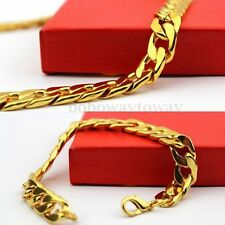 Gold Filled Men's Bracelet with Necklace Jewelry Set Hip Hop Cool Fashion Chain