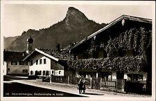 Oberammergau Bayern Oberbayern AK ~1940 Dedlerstraße Straße Kofel Kinder Kirche