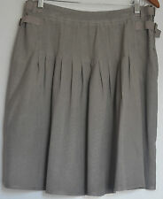 Country Road Ladies Pale Grey Unlined 100% Silk  Skirt Size 10 -12