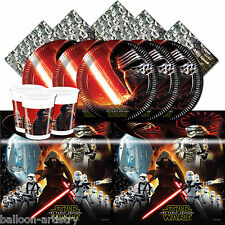 Star Wars Force Awakens Children's Birthday Complete Party Tableware Pack For 16
