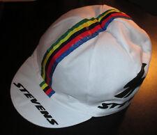 NEU! STEVENS Rennmütze WM Streifen Weiß Rennrad Cap Mütze Kappe für Fahrrad