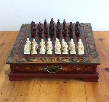 chess Gifts Wooden Roses Terracotta pieces Antique Three-dimensional Chessboard