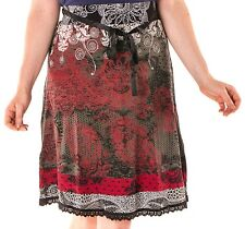 Beautiful Desigual Romin Black and Red Skirt Size L