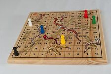Traditional Wooden Snakes And Ladders Board Game