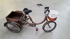 """Dreirad Seniorenfahrrad Jugendrad Shoppingfahrrad 20"""" Braun"""