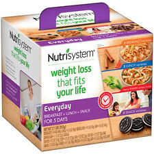WEIGHT LOSS KIT Nutrisystem Everyday Breakfast Lunch Snack FOR 5 DAY