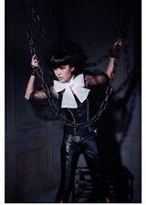 Rq-Bl black gothic blouse sz m halloween