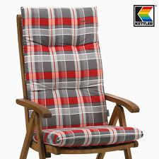 Kettler Gartenpolster Auflagen für Hochlehner Sessel Gartenstuhl Emma rot grau