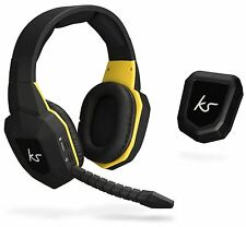KITSOUND STORM WIRELESS GAMING HEADPHONES HEADSET & MIC PS4/PS3 PC XBOX 360 ONE