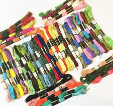 50 x ANCHOR SOLID STITCH SKEINS COTTON EMBROIDERY THREAD FLOSS ASSORTED COLOURS