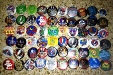 Lot of 60 GRATEFUL DEAD collectible buttons/pinbacks/badges jerry garcia 1.25""