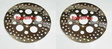 """Harley Brake Disc Rotors 11.5"""" Polished Vented Stainless Steel ( 2 Front )"""
