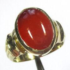 1228 - Dekorativer Ring aus Gelbgold 585 mit Karneol - 2133/110