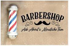 1x Barbers Sticker Barbershop Wall Art 1m x 487mm Vintage Barbers Sign