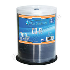 100 Optical Quantum Premium AZO 52x 80min 700 MB CD-R White Inkjet HUB Printable