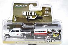 DODGE RAM 1500 SPORT 2014 ENCLOSED CAR TRAILER HITCH TOW 3 GREENLIGHT 32030 1:64
