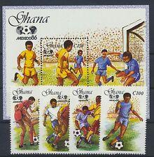Ghana 1138/41 Block 125 postfrisch / Fußball ...................................