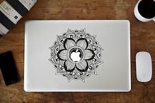 "Black Floral Mandala Decal Sticker for Apple MacBook Air/Pro Laptop 13"" 15"""
