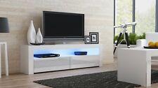 TV  TORINO Lowboard Board Schrank Tisch Sideboard weiß 157cm - Hochglanz LED´-*