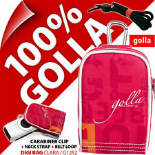 New Golla Universal Compact Digital Camera Case Bag Pink for Canon Sony Samsung
