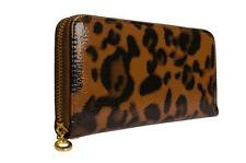 LYDC Womens Ladies Designer Patent Animal Print Coffee Purse Clutch Wallet P08