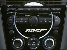 Mazda Bose RX8 dash decal sticker x3 silver for head unit - CD Player