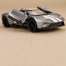 Ford GT 2017 Die-Cast Model Car Silver 1:38 Scale Opening Doors Pull-Back Action